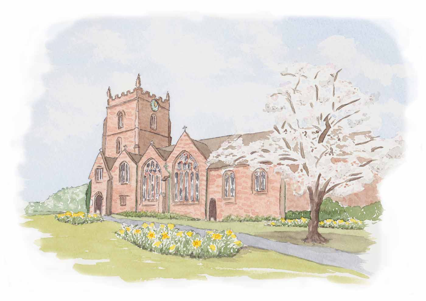 Paintings Of Flowers Churches Venues For Wedding Invitations And Wedding Stationery